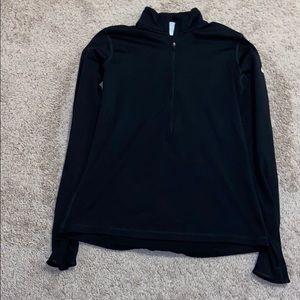 NIKE dri-fit large black, half zip up, long sleeve